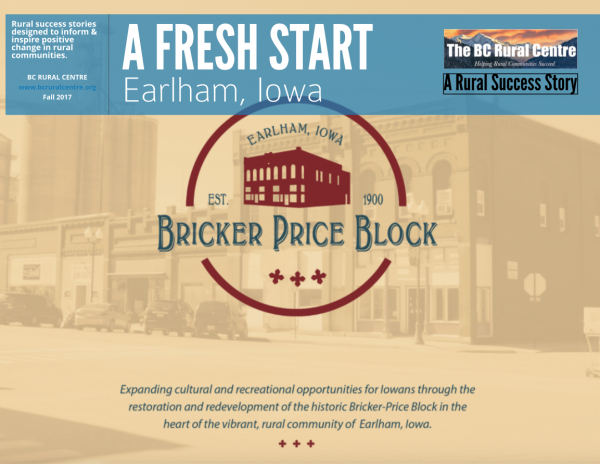 Rural revitalization Iowa-style is well underway in Earlham