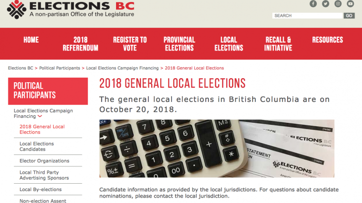 General local elections tomorrow