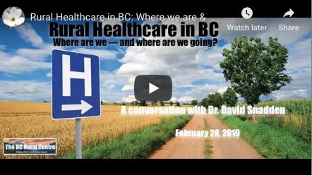 Rural healthcare in BC
